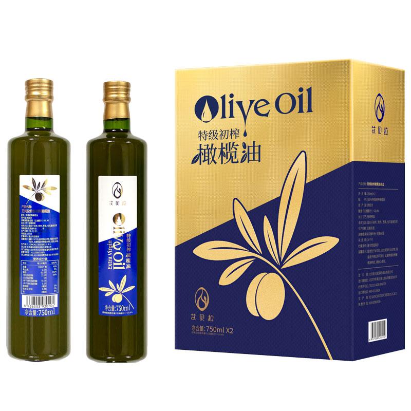艾貝拉橄欖油 特級初榨橄欖油禮盒750ml*2