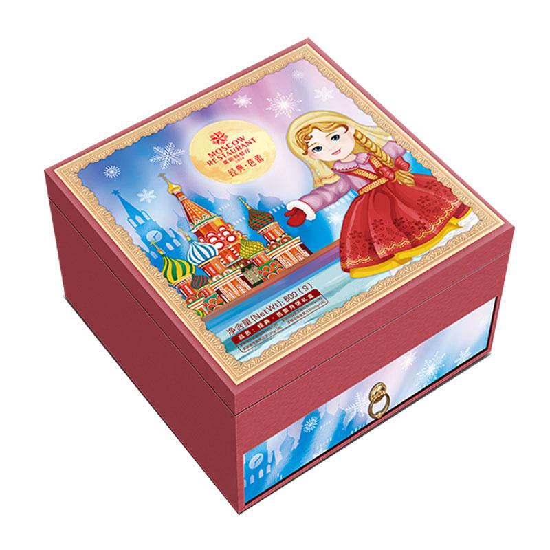 莫斯科餐廳經典芭蕾月餅禮盒800g