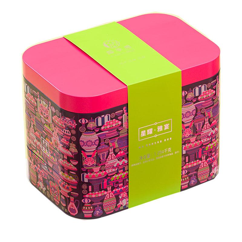 香港錦華星耀雅宴月餅禮盒1294g