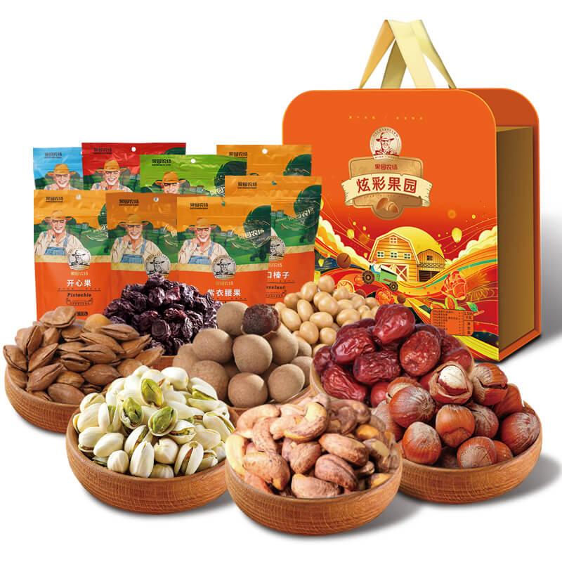 果園農場炫彩果園干果禮盒1456g
