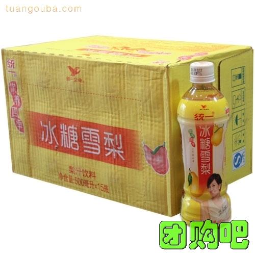 [統一飲料]統一冰糖雪梨整箱裝 450ml*15