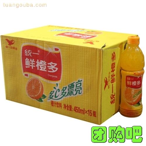 [統一飲料]統一鮮橙多 整箱裝 450ml*15